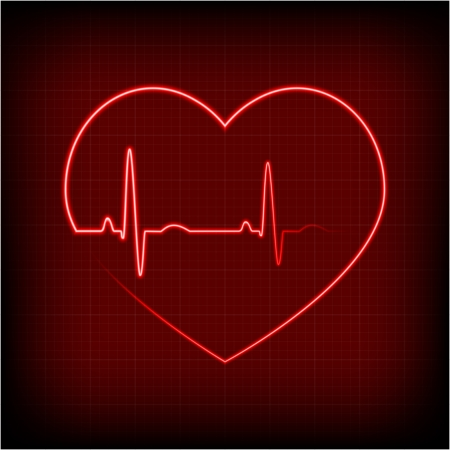 heart on a cardiogram Illustration