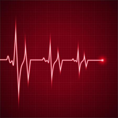 Illustrazione vettoriale del ritmo cardiaco elettrocardiogramma