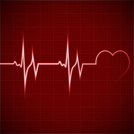 Vector Illustration heart rhythm ekg Vector