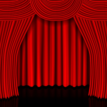 open curtain. vector illustration Illustration