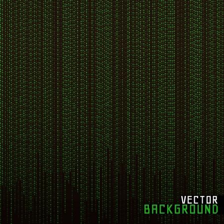 Vector Illustration Matrix background