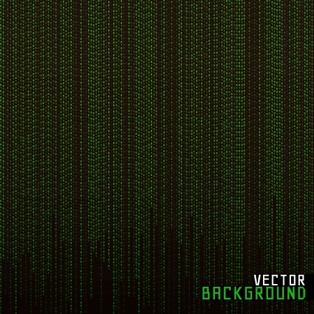 Vector Illustration Matrix background Vector