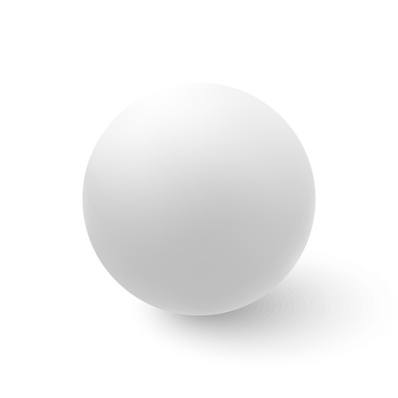 Vector white ball isolated on white background