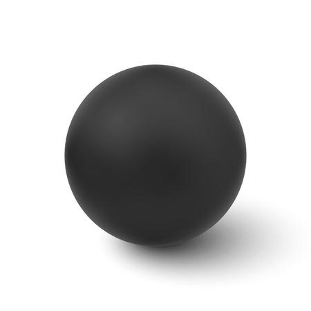 벡터 검은 색 구형 흰색 배경에 고립