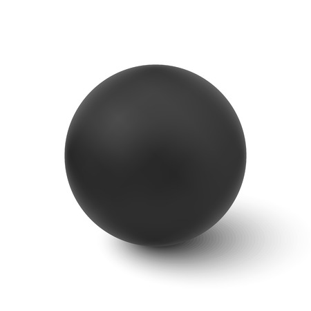 Vector black sphere isolated on white background