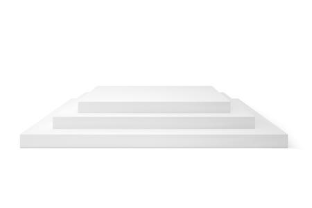 Empty platorm scence studio vector isolated on white background