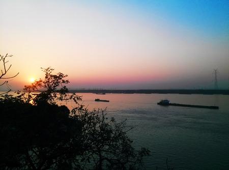 yangtze: Yangtze sunset