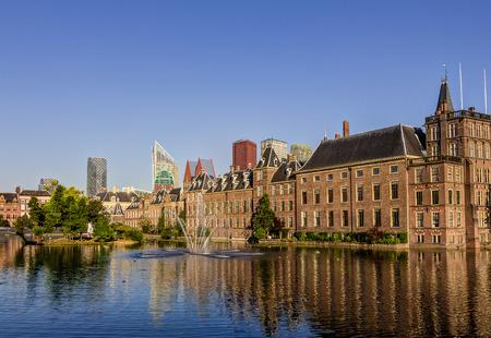 The Hague skyline and Binnenhof