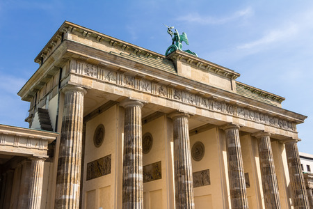 brandenburg gate: Brandenburg Gate Berlin Stock Photo