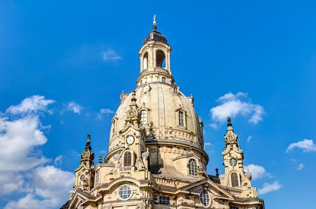 frauenkirche: Frauenkirche in Dresden Stock Photo