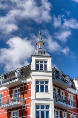 regimen: Spa town Zinnowitz on the island of Usedom Stock Photo