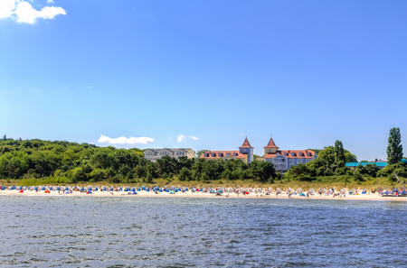 landfall: Spa town Zinnowitz on the island of Usedom Stock Photo