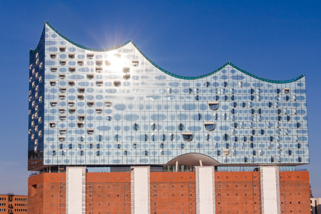 Elbphilharmonie in the HafenCity quarter of Hamburg Editorial