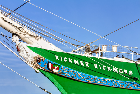 max: Museum sailing ship Rickmer Rickmers in Hamburg