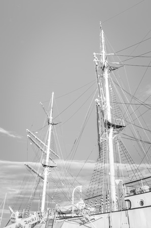fock: Training ship Gorch Fock Stock Photo