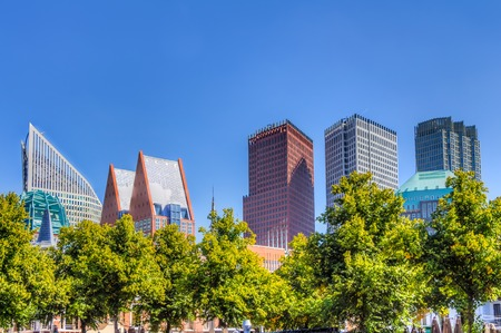 The Hague skyline in the Netherlands