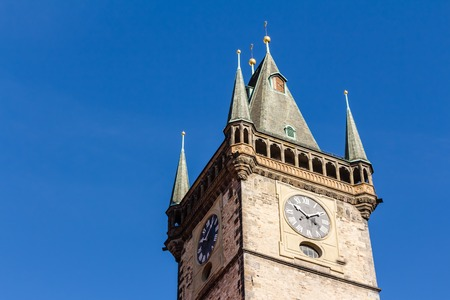 Town hall tower at the old town square of Prague