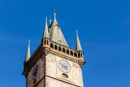 Town hall tower at the old town square of Prague Redakční