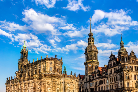 sacred trinity: The Dresden castle and the catherdal in the old town