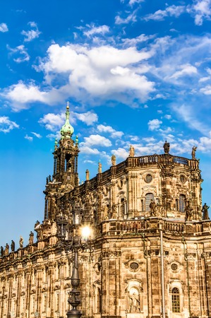 sacred trinity: The Dresden Cathedral in the old town