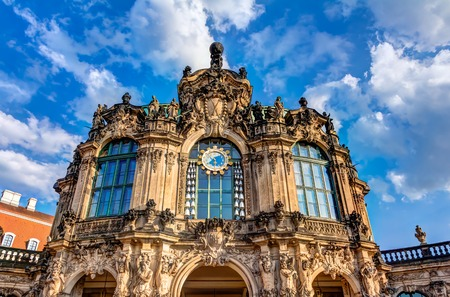 rebuilt: The historic rebuilt Zwinger in Dresden, Germany