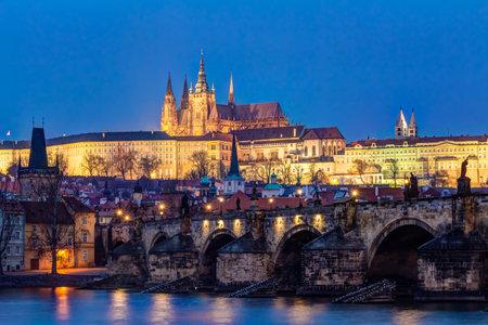 czech culture: The Charles Bridge and Prague castle in Czech Republic