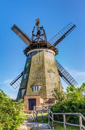 dutch: Typical Dutch windmill in Benz on Usedom island