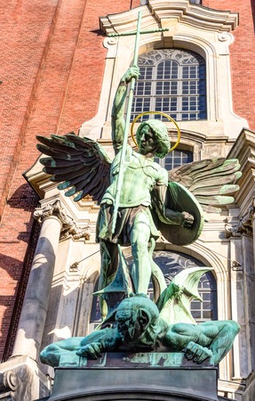 saint michael: The Saint Michael Church in Hamburg, Germany