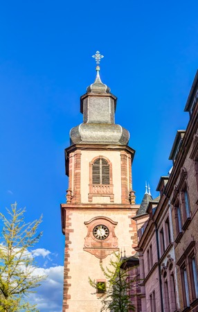 visitation: Church of the Visitation in the inner city of Aschaffenburg, Germany Stock Photo