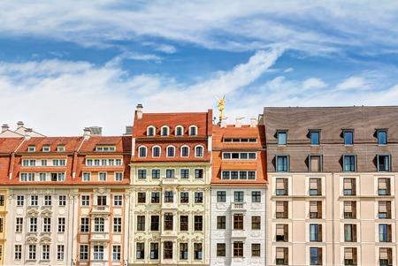 bourgeoisie: Historic rebuilt baroque buildings in Dresden, Germany