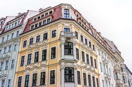 postwar: Historic rebuilt baroque buildings in Dresden, Germany