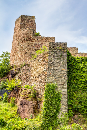 ore: Ruined castle in Frauenstein in the Ore Mountains, Germany