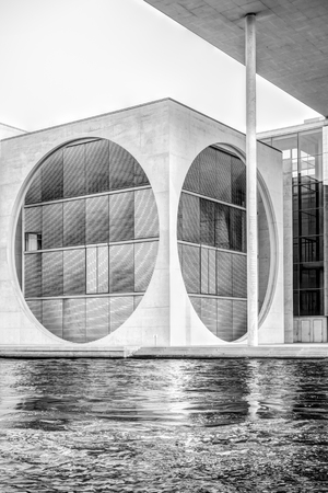 urbanism: Modern architecture of the Marie-Elisabeth-Luders-House in Berlin, Germany Editorial
