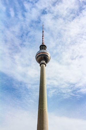Berlin television tower at Alexanderplatz in Germany