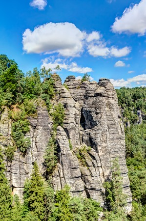 hollows: Sandstone mountains the Saxon Switzerland National Park, Germany
