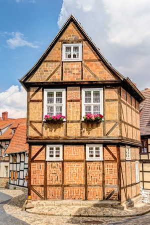 Timber framing houses Quedlinburg old town, Germany