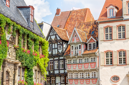 szkielet z belek domy stare miasto Quedlinburg, Niemcy