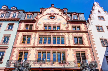 MAINZ: Historic buildings in the old town of Mainz at market square