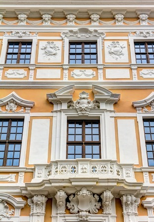 rebuilt: Rebuilt Baroque building in the historic old town of Dresden in Germany Stock Photo