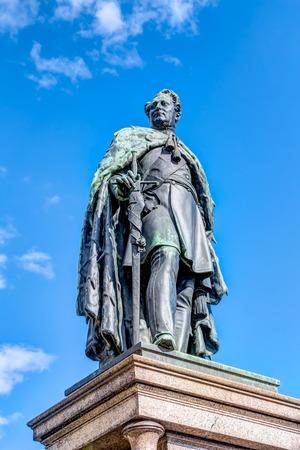 duke: Statue of Paul Friedrich, Grand Duke of Mecklenburg, in Schwerin Stock Photo