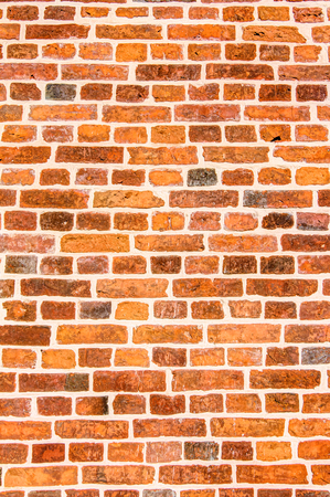 hape: Detailed old red brick wall background texture