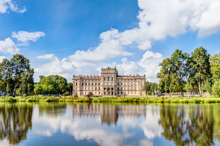 Ludwigslust Palace in Baroque architecture style in the town of Ludwigslust, Mecklenburg-West Pomerania Editorial