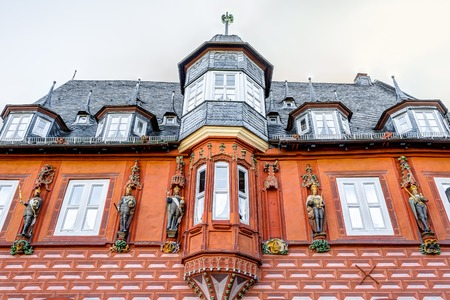turreted: The Kaiserworth is a historic guild house in the old town of Goslar