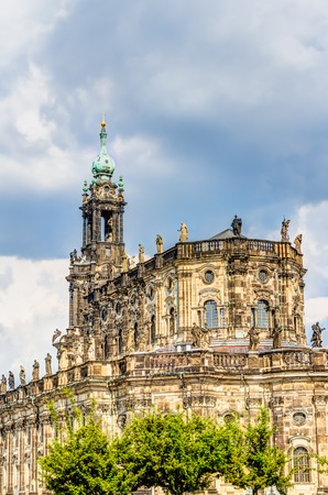 The Dresden Cathedral in the old town