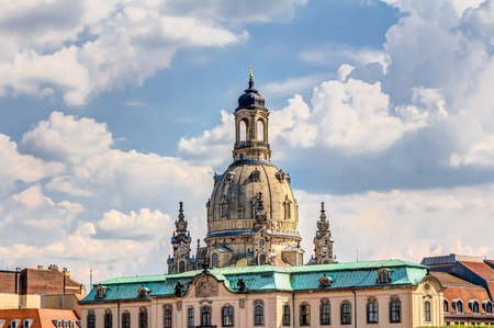 Church of our Lady in the historic old town of Dresden in Germany Stock Photo