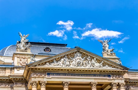 Detail view of the State Theatre of the German state Hesse in the capital Wiesbaden