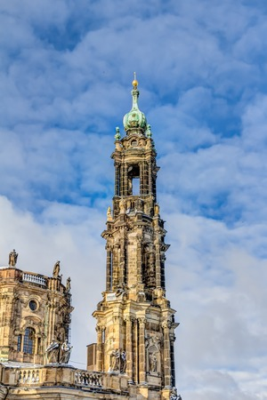 sacred trinity: Cathedral of the Holy Trinity in Dresden