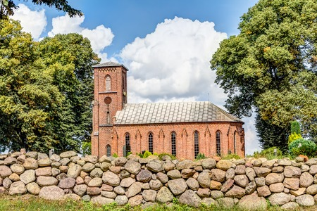 mirow: Small church in brick architecture in Mirow, Germany
