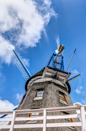 Typical Dutch windmill in Banzkow in Germany