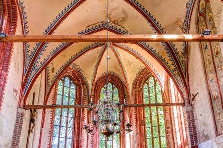Historical church in Kirchdorf on Poel island, Germany Editorial